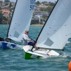 Rod Davis competes in the OK Dinghy Fleet at Sail Auckland 2013