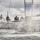 Emirates Team New Zealand, NZL5 sailing for the third day of testing. 15/2/2013