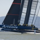 23/07/2013 - San Francisco (USA,CA) - 34th America's Cup - Artemis Racing AC72 #2 first Sail
