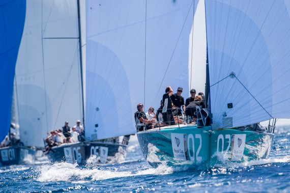 Quantum Racing in action during the coastal race on day four of Royal Cup at Marina Ibiza on July 05th 2013 in Ibiza, Spain. Photo by Xaume Olleros / 52 Super Series