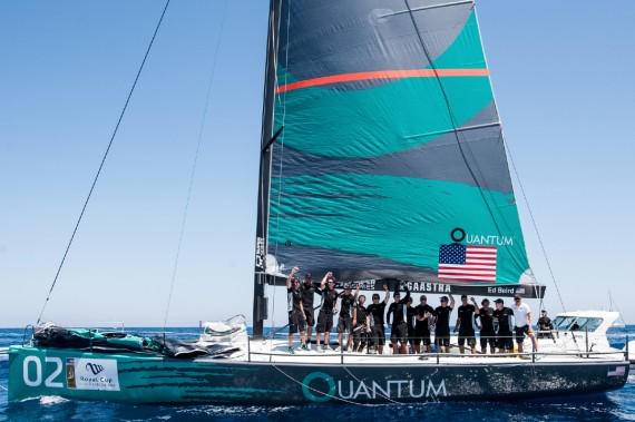IBIZA, SPAIN - 6 JUL: Quantum Racing celebrate after winning the Royal Cup at Marina Ibiza on July 06th 2013 in Ibiza, Spain. Photo by Xaume Olleros / 52 Super Series