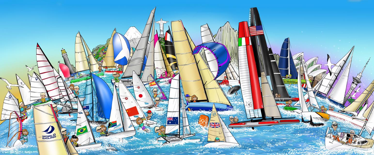 world sailing cartoon