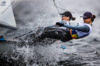 Jo Aleh & Polly Powrie. Photo by Sailing Energy / World Sailing